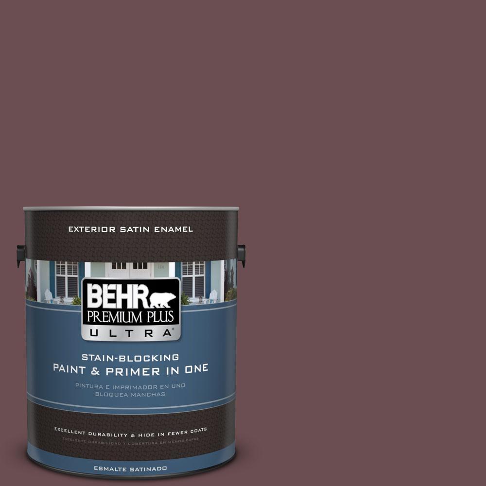 BEHR Premium Plus Ultra 1-gal. #130F-7 Semi Sweet Satin Enamel Exterior Paint