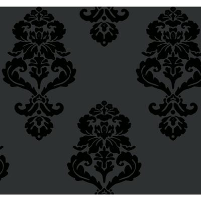 Graphic Damask Paper Strippable Roll Wallpaper (Covers 60.75 sq. ft.)