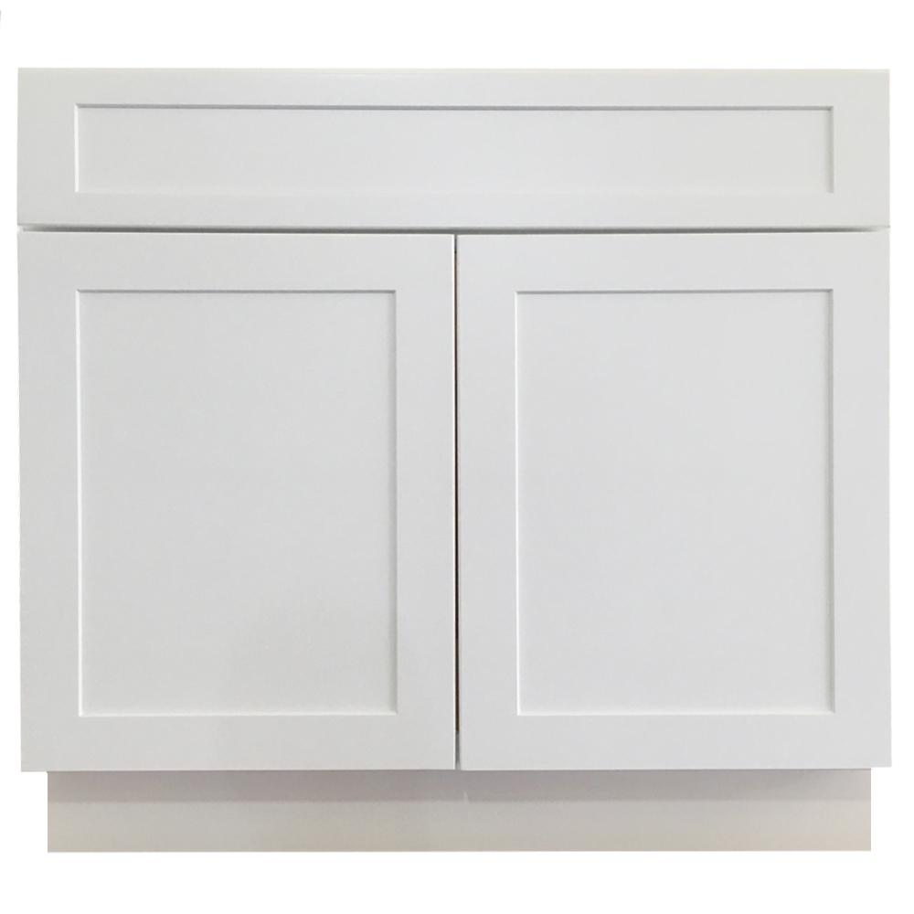 Shaker Ready to Assemble 36x34.5x24 in. Sink Base Cabinet with 2-Door