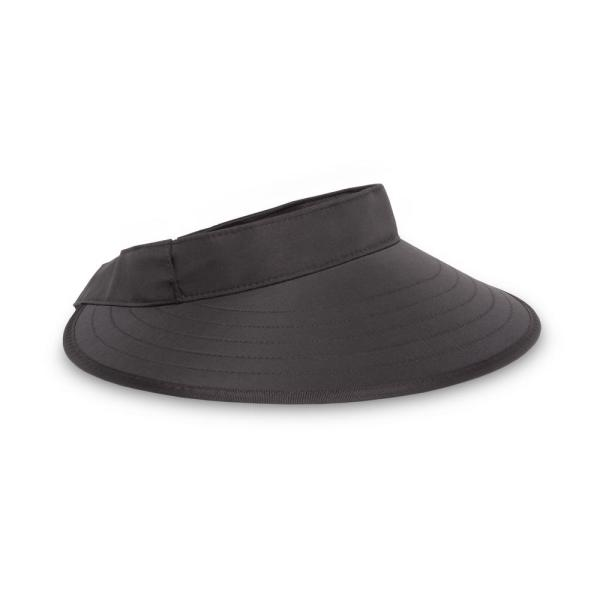 Women's One Size Fits All Black Sport Visor