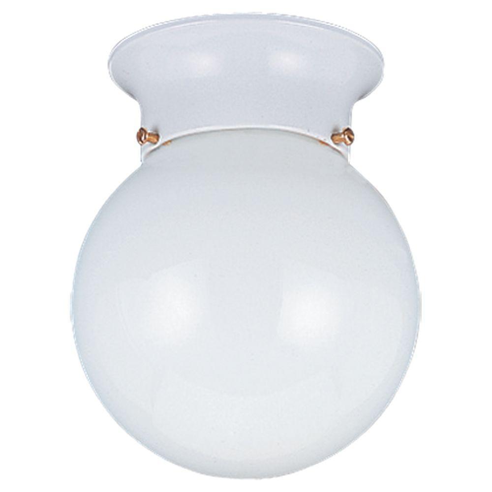 Tomkin 1-Light White Flush Mount