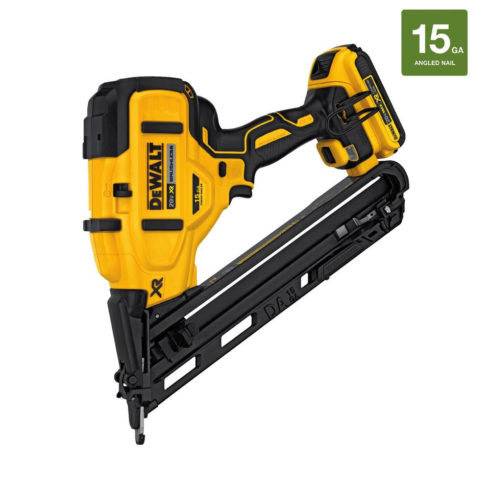 DeWALT 20-Volt Max Lithium-Ion Cordless 15-Gauge Finish N...