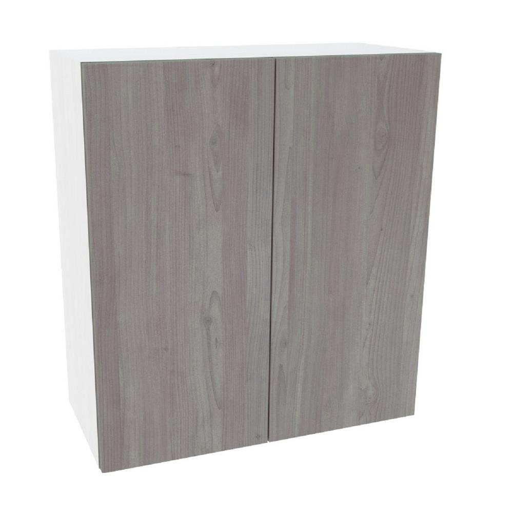 Cambridge Ready to Assemble 27 in. x 36 in. x 12 in. Wall Cabinet in Grey Nordic Wood -  SA-WU2736-GN