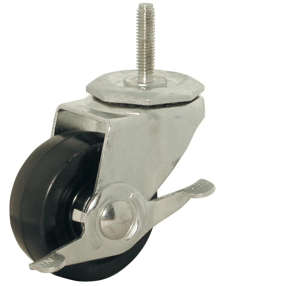 Shepherd 3 In. Soft Rubber Threaded Stem Caster With 150 Lb. Load Rating And