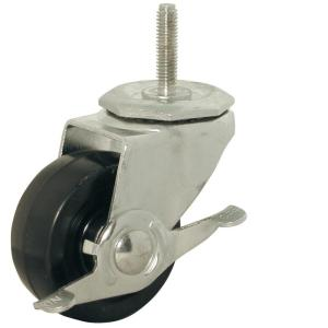 Shepherd 3 In Soft Rubber Threaded Stem Caster With 150 Lb Load