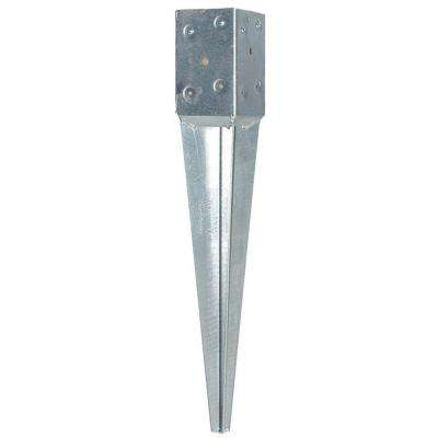 T4-600 4 in. Square Fence Post Anchor 8/CA