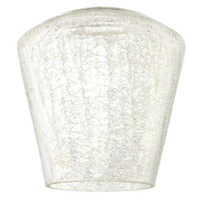 6 in. Clear Crackle Shade with 2-1/4 in. Fitter and 6-1/4 in. Width