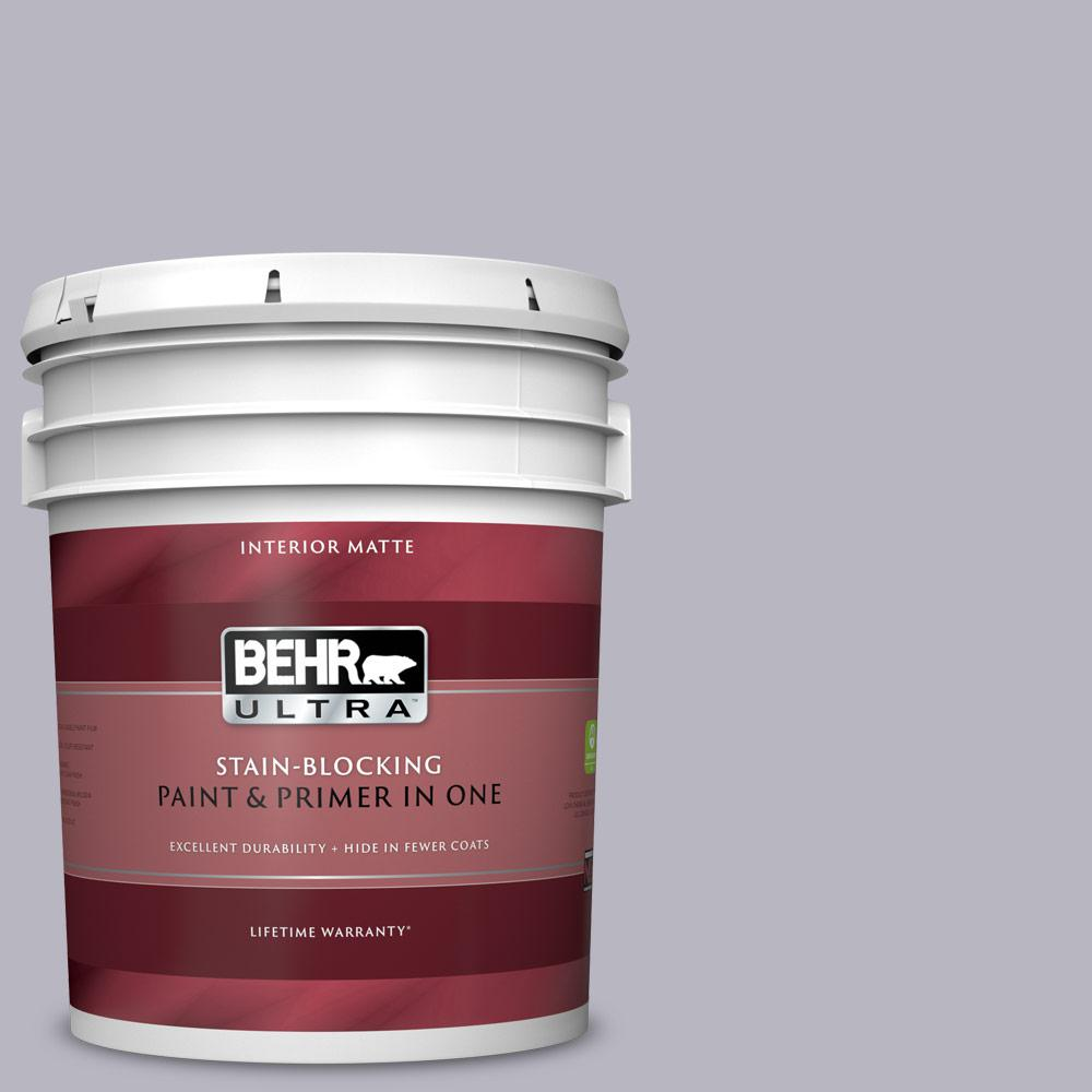 BEHR ULTRA 5 gal  #N550-3 Best in Show Matte Interior Paint and Primer in  One