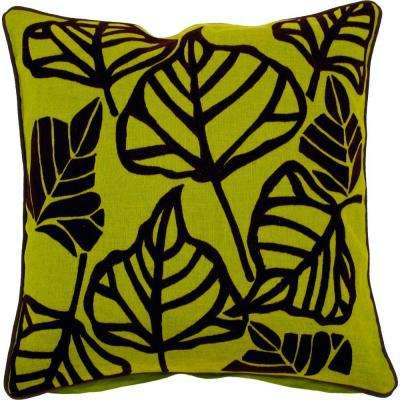 LeavesE 22 in. x 22 in. Decorative Down Pillow