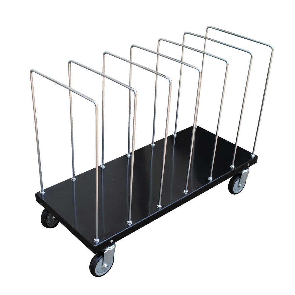 Vestil 18 in. x 44 in. Portable Carton Cart with Dividers