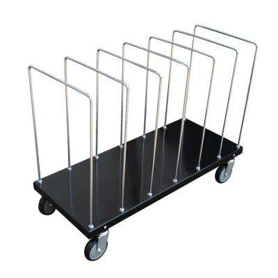 18 in. x 44 in. Portable Carton Cart with Dividers