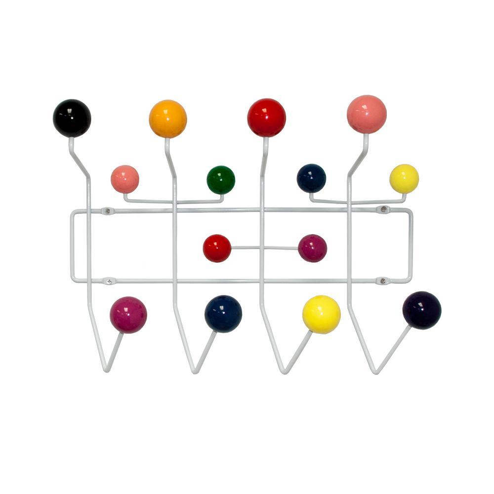 Bubble Mid Century Modern Coat Rack (Multi-Color)