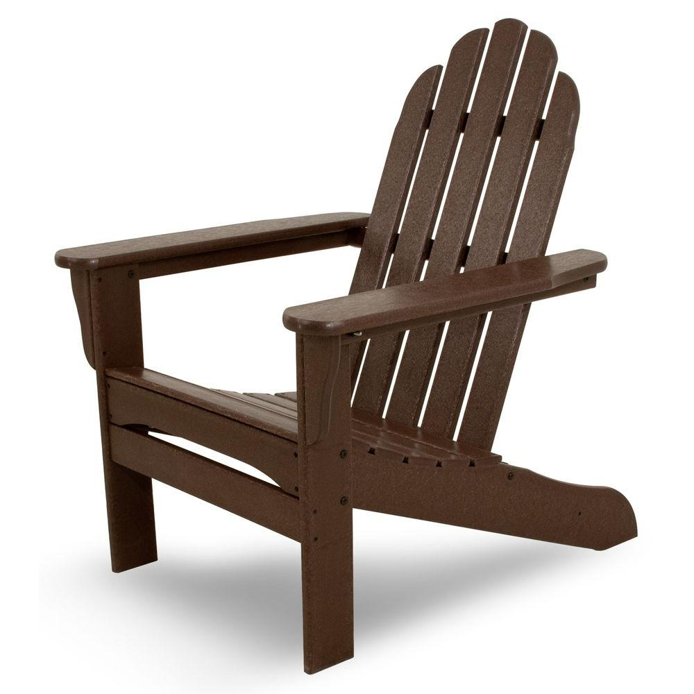 Ivy Terrace Mahogany Plastic Patio Adirondack Chair