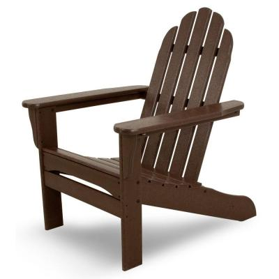 Mahogany Plastic Patio Adirondack Chair