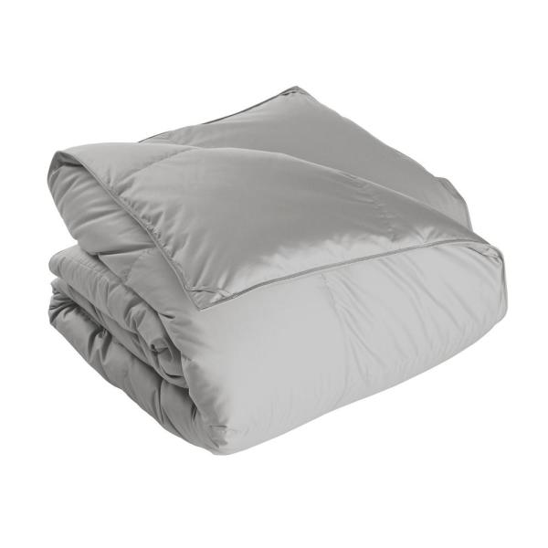 The Company Store White Bay Medium Warmth Platinum Queen Down Comforter