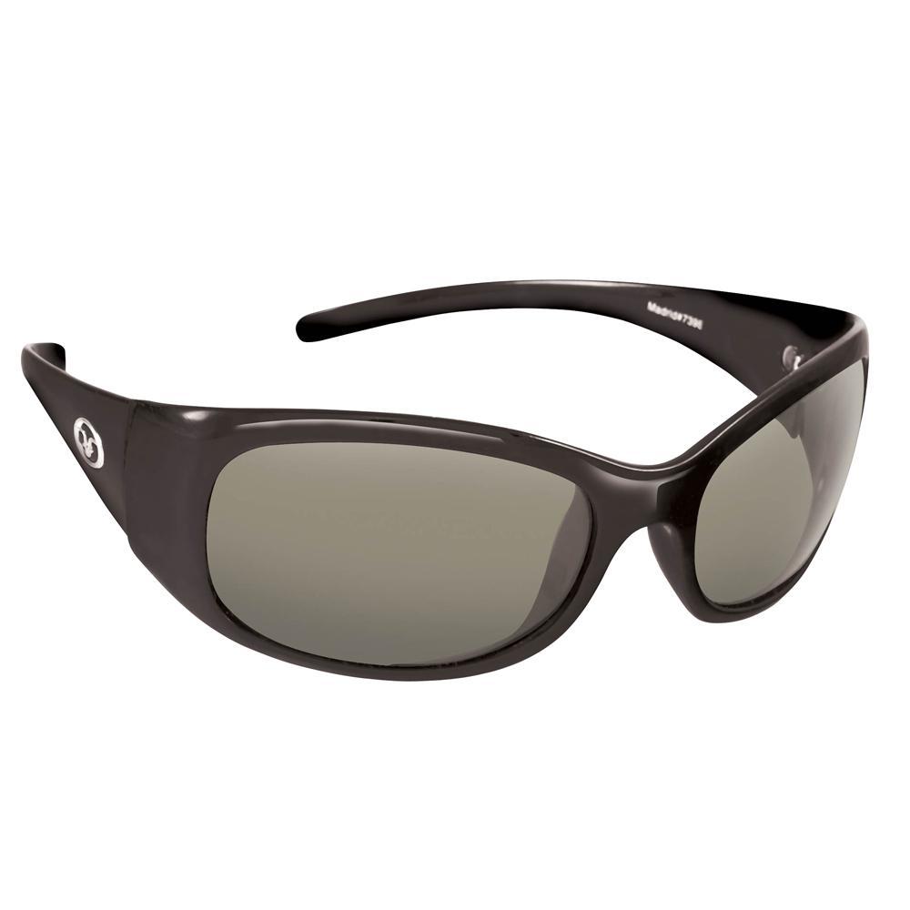 90371c1810 Flying Fisherman Madrid Polarized Sunglasses Black Frame with Smoke Lens