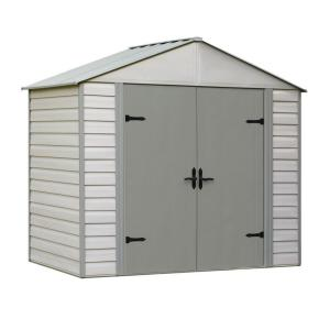 Click here to buy Arrow Viking Series 5 ft. x 8 ft. Vinyl Coated Steel Shed by Arrow.