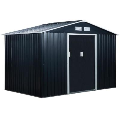 6 ft. x 9 ft. x 6 ft. Metal Utility Shed for Garden and Backyard