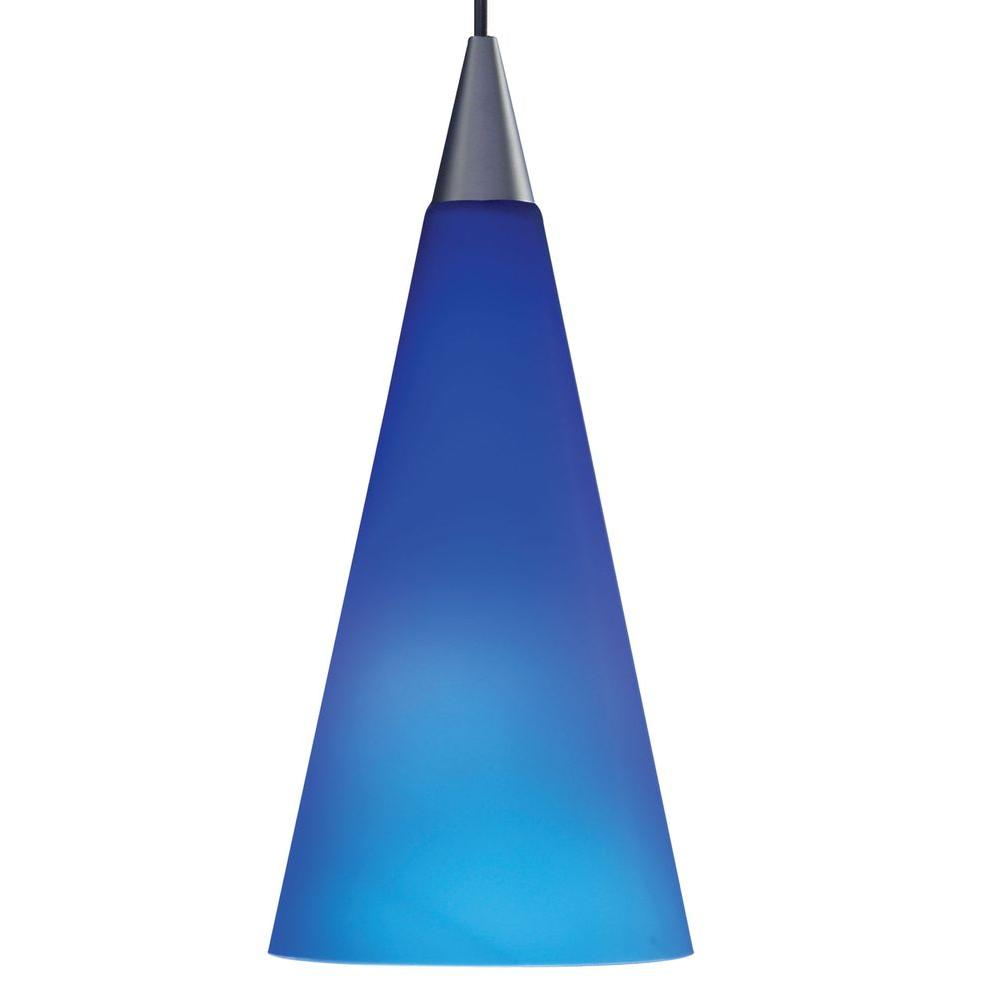 Juno 1-Light Cobalt LED Pendant Kit Tall Cone