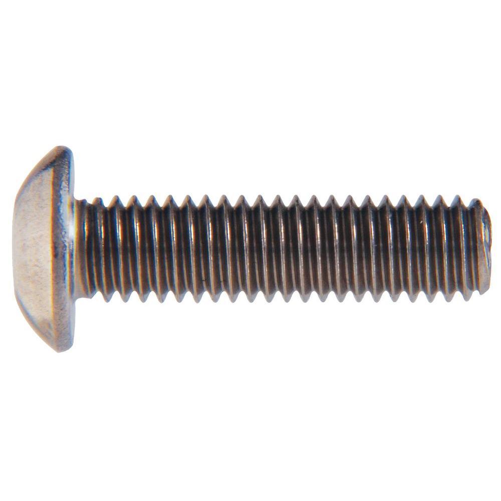 1/4 in. x 1/2 in. Internal Hex Button-Head Cap Screws (10-Pack)