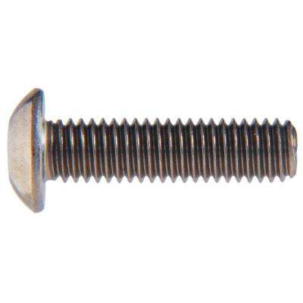 M8-1.25 x 16 mm Internal Hex Button-Head Cap Screws (8-Pack)