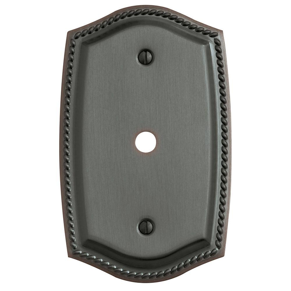 Rope 1 Cable Cover Wall Plate - Venetian Bronze