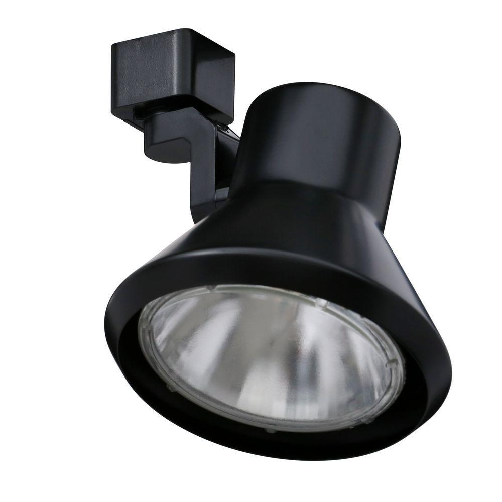75-Watt Flare Black Track Lighting Head