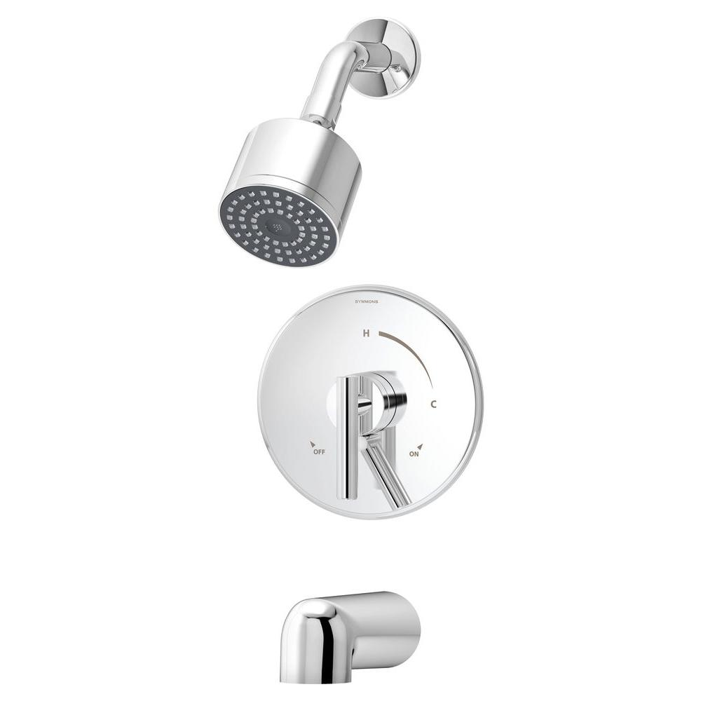 Symmons Dia Single-Handle 1-Spray Tub and Shower Faucet System in ...