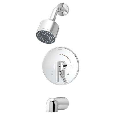Dia Single-Handle 1-Spray Tub and Shower Faucet System in Chrome (Valve Included)