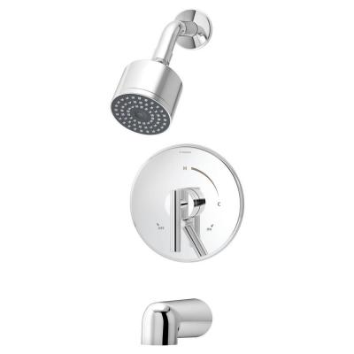 Dia 1-Handle 1-Spray Tub and Shower Faucet in Chrome (Valve not Included)