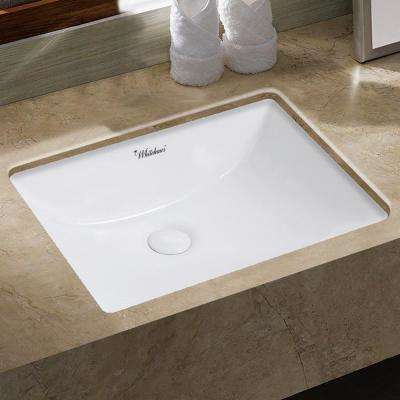 Isabella Plus Collection 21 in. Rectangular Undermount Vessel Sink in White
