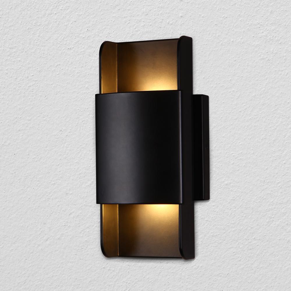 Atlas 4.75 in. Black Integrated LED Sconce