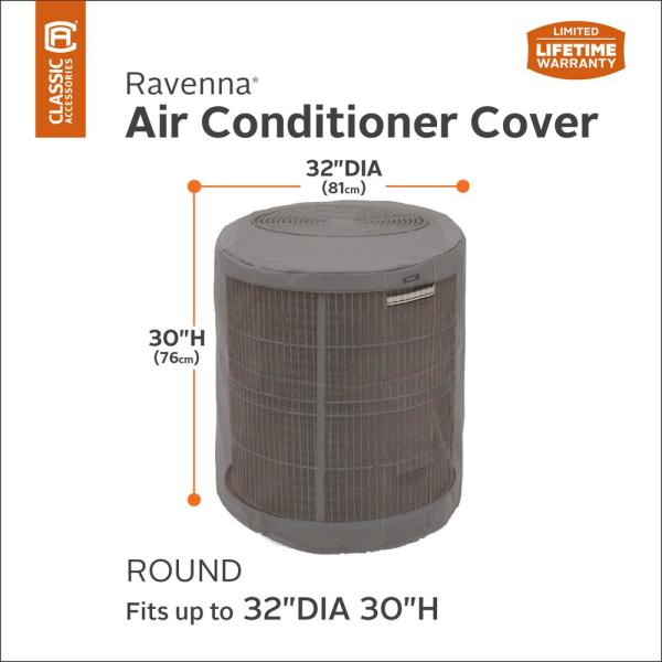 Classic Accessories Ravenna Round Air Conditioner Cover 55 176 015101 Ec The Home Depot