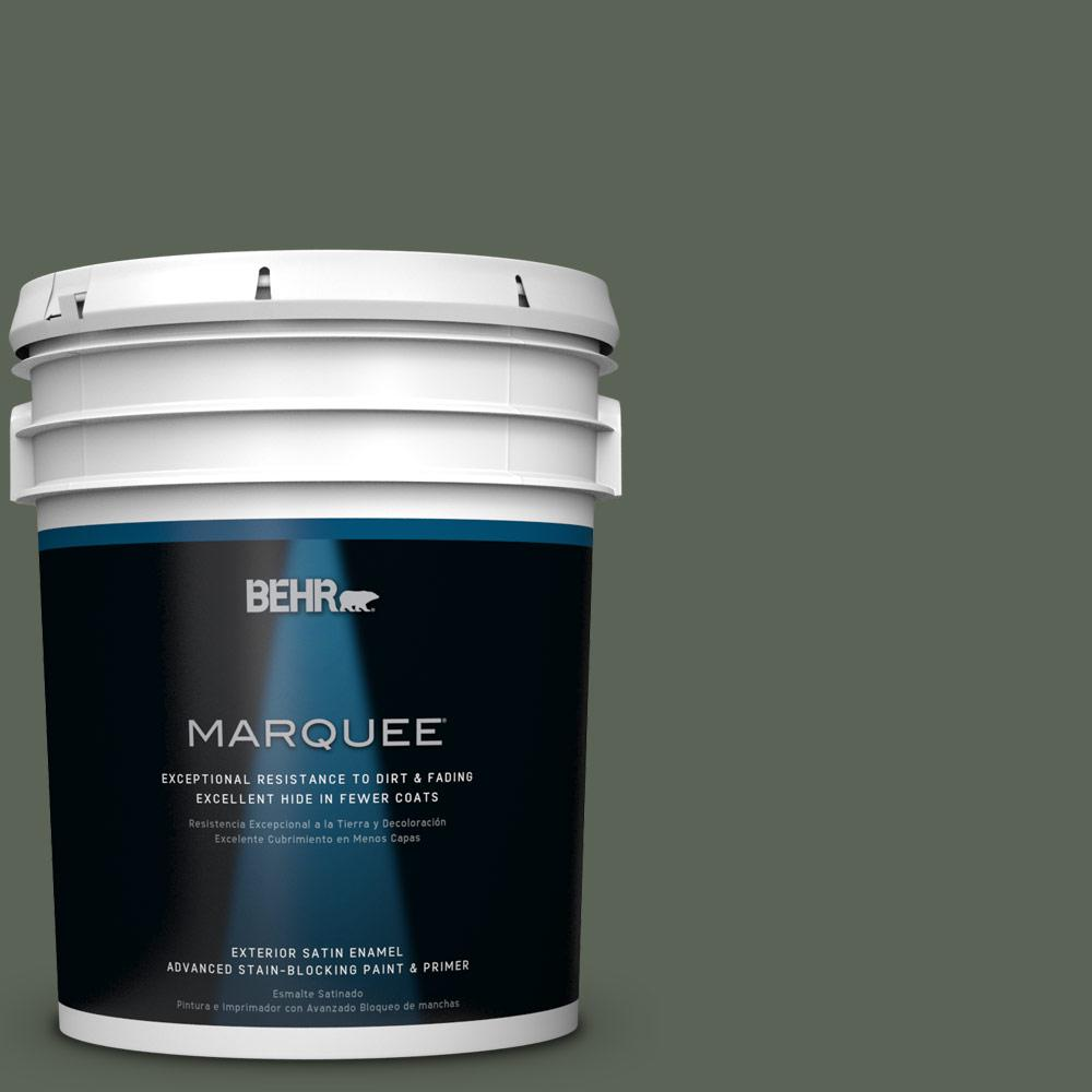 BEHR MARQUEE 5-gal. #T13-16 Pine Cone Pass Satin Enamel Exterior Paint