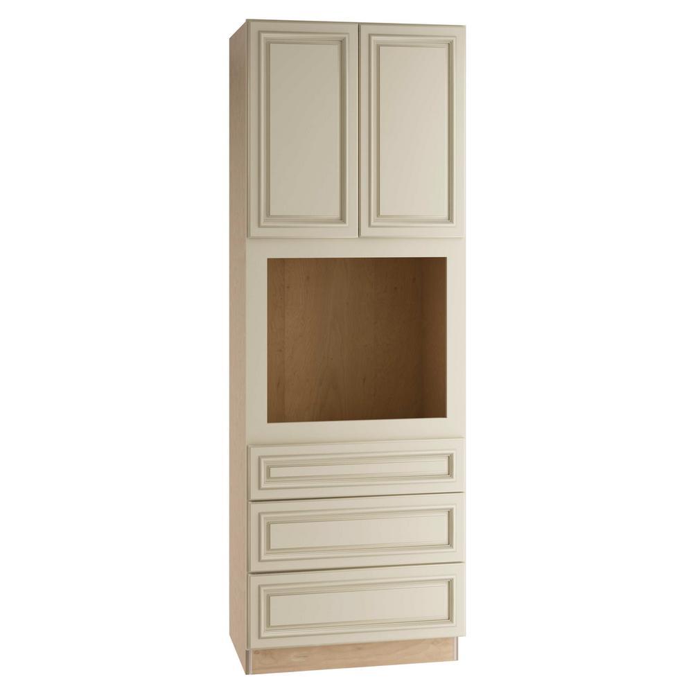Home Decorators Pantry Utility Universal Oven Kitchen Cabinet Bronze Glaze Holden