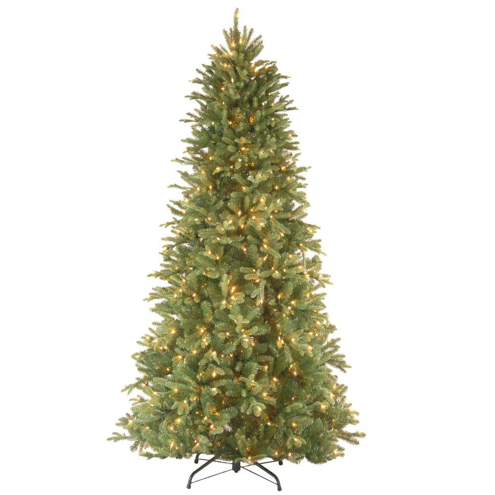 National Tree Company 6 5 Ft Tiffany Fir Slim Artificial Christmas With Clear Lights