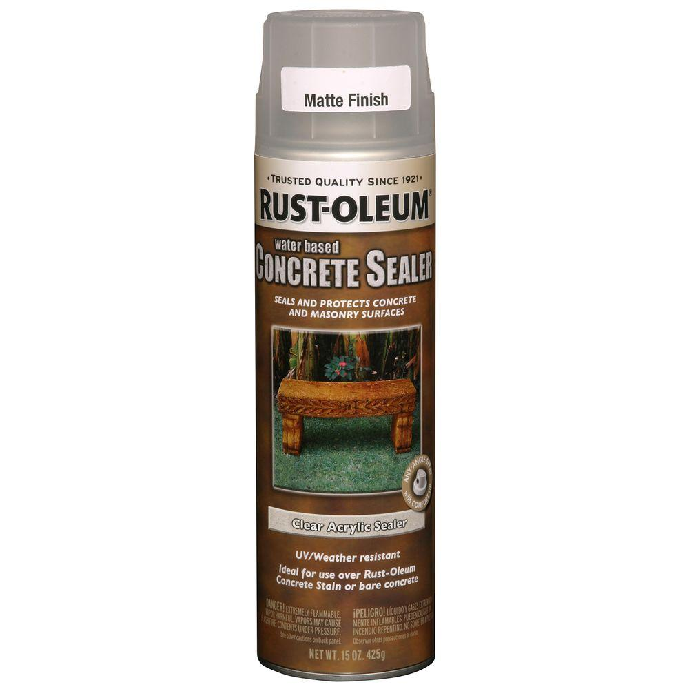 Rust Oleum Concrete Stain 15 Oz Water Based Clear Matte
