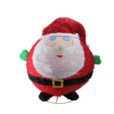 20 in. Lighted Collapsible Christmas Santa Claus Outdoor Decoration