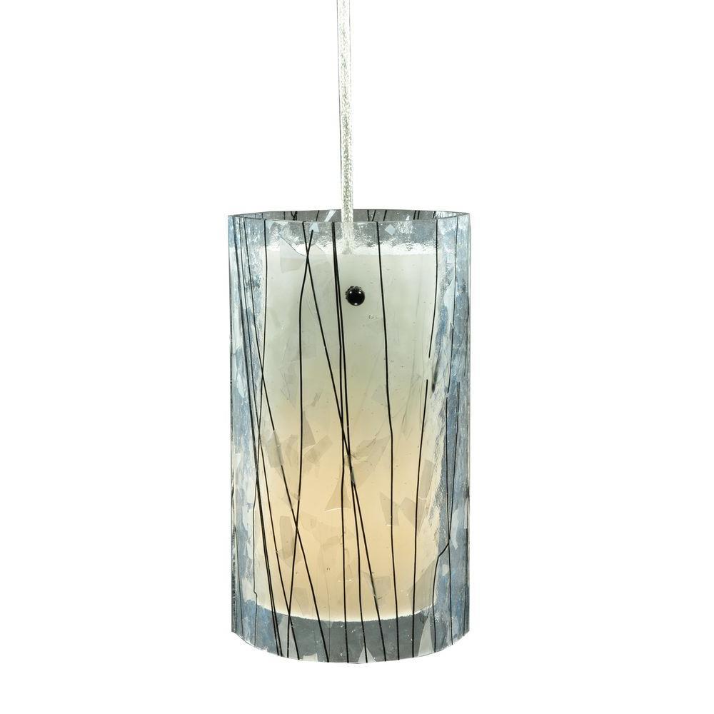 Illumine 1 Light Mini Pendant Fused Glass