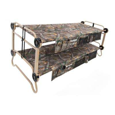 Cam-O-Bunk Realtree Xtra 82 in. XL Bunk Beds with Including Organizers