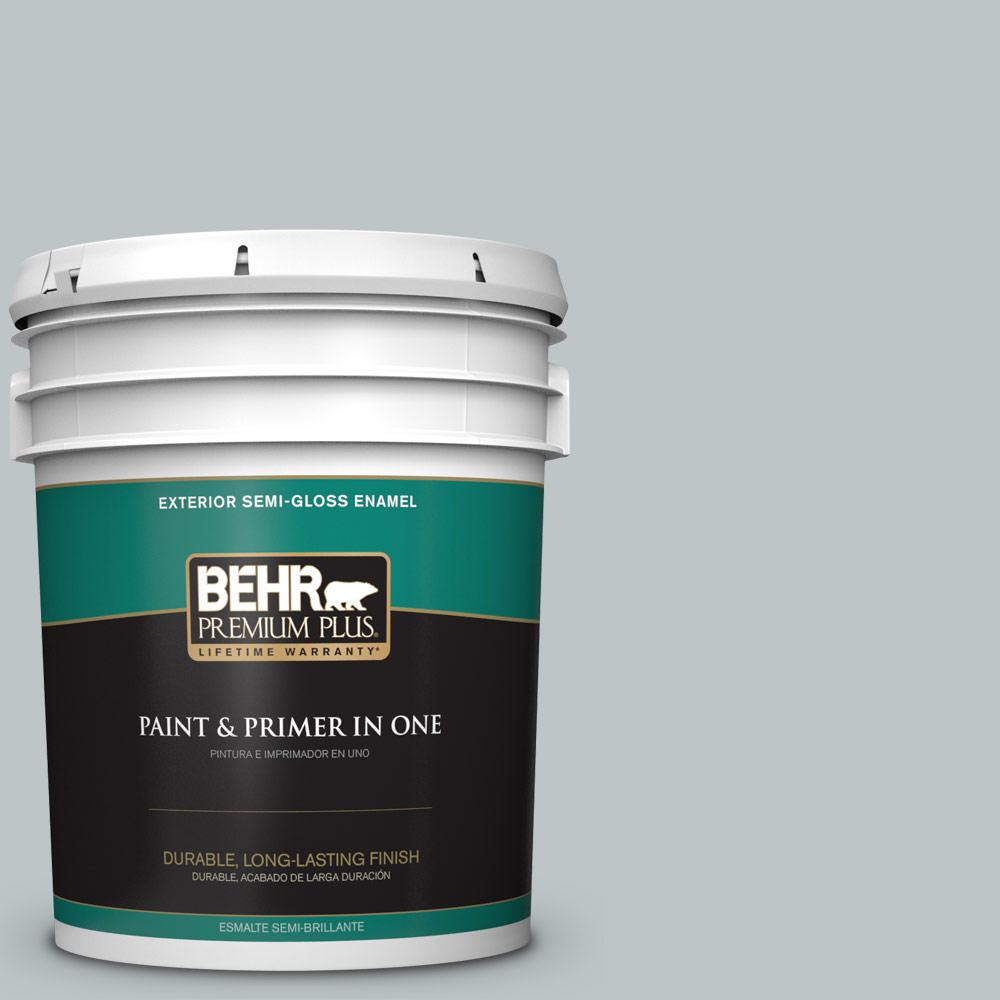 5 gal. #PPU12-10 Misty Morn Semi-Gloss Enamel Exterior Paint