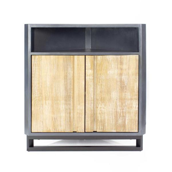 Shelly Gray Wood Cabinet with a Drawer and Door