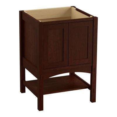 Marabou 24 in. Bath Vanity Cabinet Only in Cherry Tweed