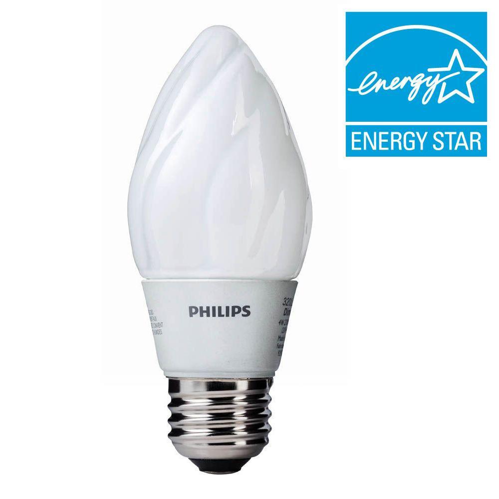 40W Equivalent Soft White F15 Dimmable LED Light Bulb (E)* (6