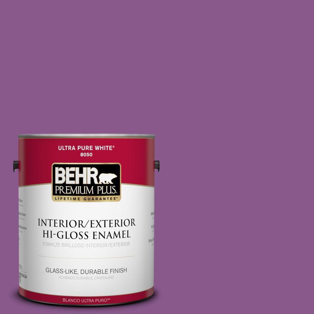 1-gal. #670B-7 Candy Violet Hi-Gloss Enamel Interior/Exterior Paint