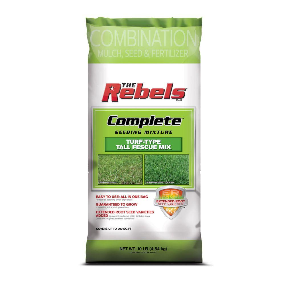 The Rebels Complete 10 lb. Tall Fescue Seed Mix with Mulch, Grass Seed, and Fertilizer
