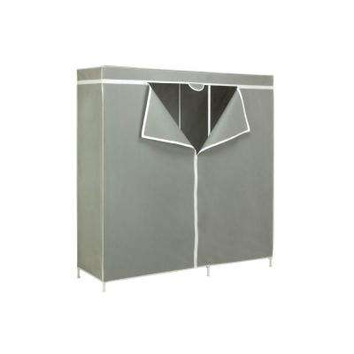 63 in. H x 60 in. W x 18 in. D Portable Closet in Gray
