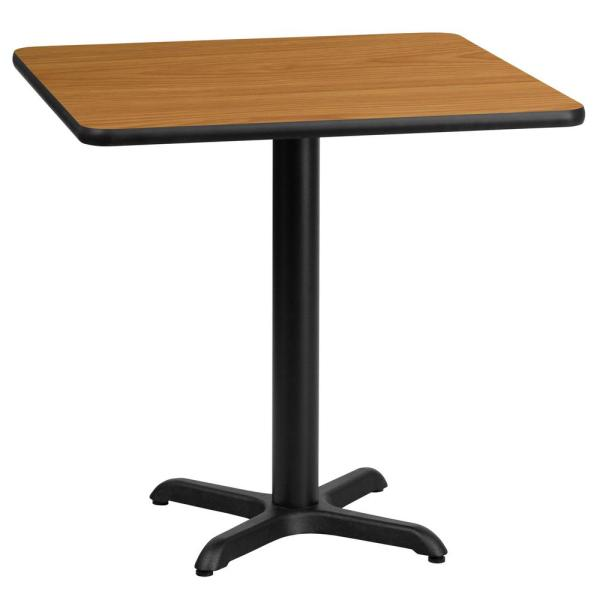 24 in. Square Natural Laminate Table Top with 22 in. x 22 in. Table Height Base