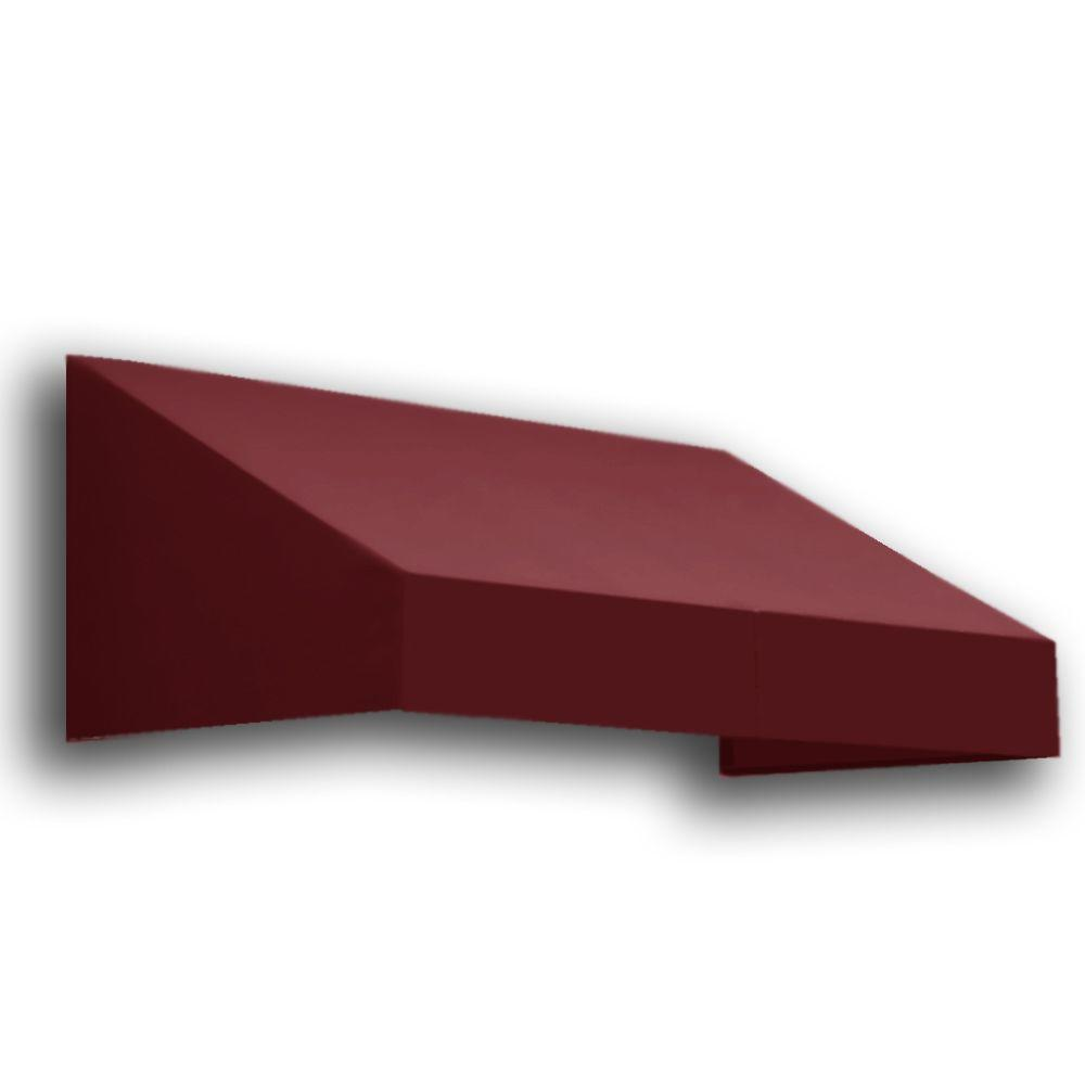 AWNTECH 4 ft. New Yorker Window/Entry Awning (24 in. H x 36 in. D) in Burgundy