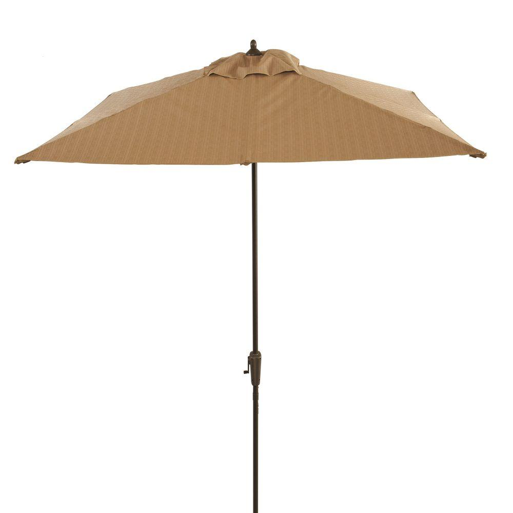 Captivating Hampton Bay Belleville 8 Ft. Patio Umbrella In Tan